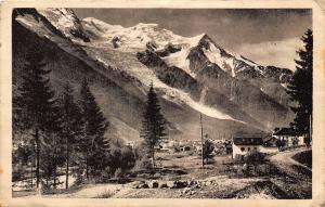 France Chamonix and Mont Blanc Mountain Panorama Postcard