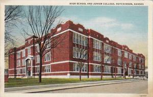 High School and Junior College Hutchinson Kansas Curteich