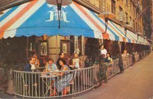 New York City Sidewalk Cafe De La Paix Street View Vintage Postcard K68198