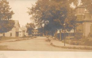 Milton Mills NY Street View in 1906 Real Photo Postcard