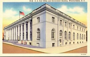 North Carolina Winston Salem Post Office and Government Building Curteich