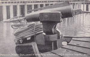 Harpoon, Whale Gun, Used In Shooting Whales, Grays Harbor, Washington, 1900-1...