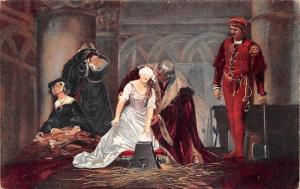 Hinrichtung der Jane Gray, Paul Delaroche postcard