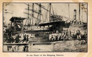 CA - San Francisco. 1906 Earthquake & Fire. In the Heart of the Shipping Dist...