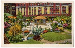 Japanese Garden, Hotel De Soto, Savannah GA