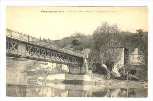 Pont De Port-Gauthier Et Chapelle Ste-Cecile, Vouvray-sur-Loir (Sarthe), Fran...