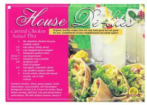 Modern Real Estate Advertising Postcard Chicken Salad Recipe