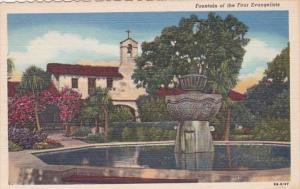 California Mission San Juan Capistrano Fountain Of The Four Evangelists Curteich