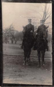 Texas City Texas~Soldiers~Horses~11th Infantry Div~Mexican Border War~c1914 RPPC