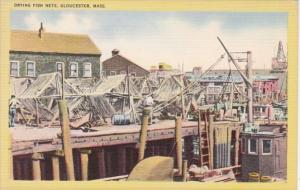 Massachusetts Gloucester Drying Fish Nets