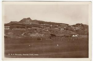 Aden; RA Barracks, Steamer Point, 5 RP PPC by Pallonjee, Dinshaw & Co, Unused