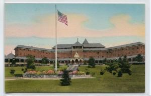 St Francis Health Resort Main Building Denville New Jersey handcolored postcard