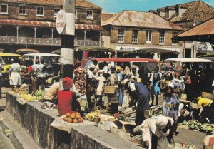 Grenada, West Indies, 1950-1960s ; Saturday is Market Day and the St. George'...