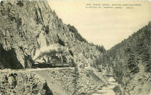 Byers Canon Denver Colorado Moffat Road #1255 C-1910 Railroad Postcard 20-13677