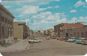 RAWLINS , Wyoming, 1950s-60s ; Cedar Street & business district