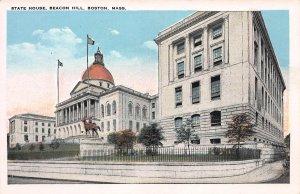 State House, Beacon Hill, Boston, Massachusetts, Early Postcard, Unused