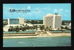 Miami, Florida/FL Postcard, The Americana Hotel, Bal Harbour, 1960's?