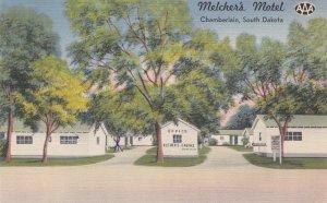South Dakota Chamberlain Melcher's Motel 1956 sk4561