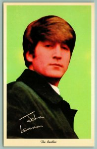 Famous People~Beatles John Lennon Portrait~Pre-Printed Autograph~1964 Postcard