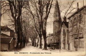 CPA Cremieu - Promenade des Tilleuls FRANCE (961646)