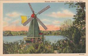 Minnesota Albert Lea Hanson Island Fountain Lake 1945