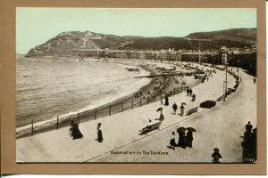 Postcard Wales Aberystwyth The Terrace Beach Scene People Water 802