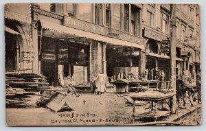 Dayton Ohio~Main Street~Kirby's 5&10c Store~Kresge Ruins~1913 Flood Kraemer Art