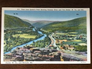 View from Queen's Point of Potomc River, Keyser, WV & McCoole, MD D21