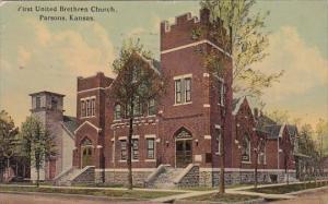 Kansas Parsons First United Brethren Church 1913