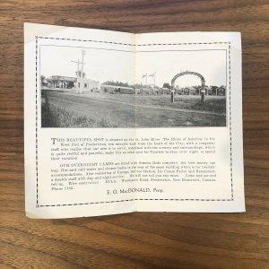 RARE - FREDERICTON, N.B. - AULA TOURIST Cabins - Canada Service Station Brochure