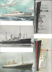 Holland America Line - Steamer Ships Postcard Lot of 10 01.11