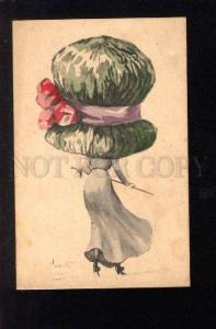 3029996 Little Lady in Large HAT Fashion Sign Vintage PC