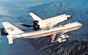 Nassau 747 transporter carries space shuttle orbiter Edwards Air Force Base, ...