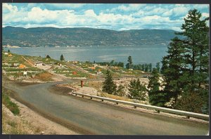 BC Provincial Government Camping Site overlooking Okanagan Lake Chrome 1950-1970