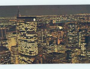 Unused Pre-1980 PAN AM BUILDING NIGHT VIEW New York City NY hn8191