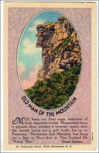Old Man of the Mt, Franconia Notch, White Mts NH