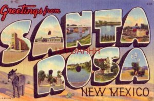 GREETINGS FROM SANTA ROSA, NEW MEXICO on Route 66 Various views