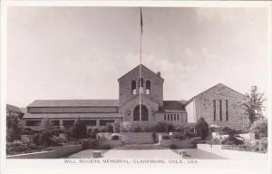 Oklahoma Claremore Will Rogers Memorial Real Photo RPPC