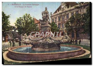 Postcard Old Marseille La Fontaine Estragin and the Bank of France