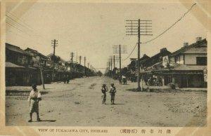japan, FUKAGAWA, Ishikari, Hokkaido, Street Scene (1910s) Postcard
