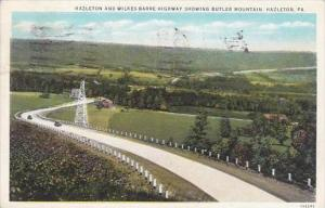 Pennsylvania Hazleton Hazleton And Wilkes Barre Highway Showing Butler Mounta...
