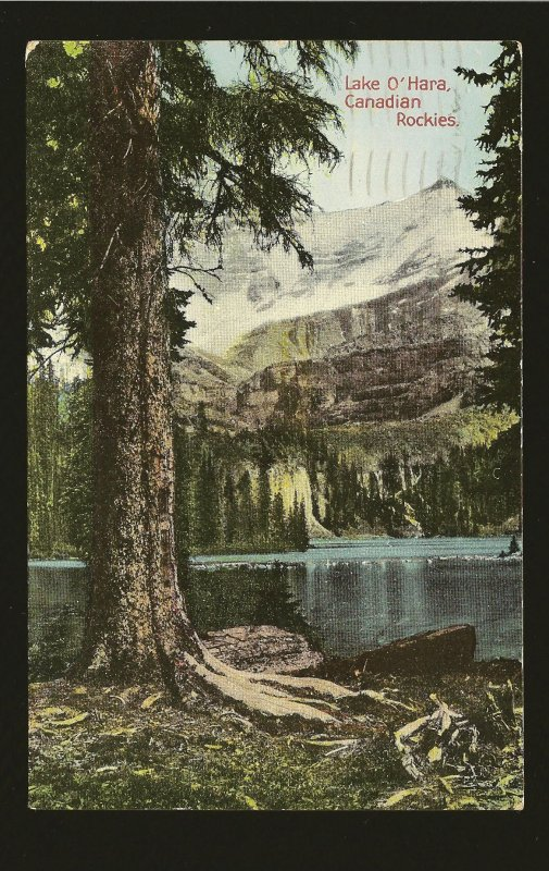 Postmarked 1937 Banff Alta Lake O'Hara Canadian Rockies Color Postcard