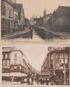 Amiens La Rue des Trois Cailloux Zenith Advertising Tanneries 2 French Postcard