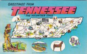 Greetings From Tennessee With Map