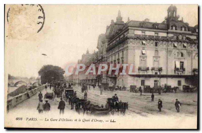 Postcard Old Paris Gare d'Orleans and the Quai d'Orsay