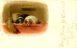King Charles Spaniels - Artist Signed: Sir Edwin Landseer