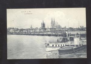 COLN A RH. GERMANY GESAMTENEICHT KOLN GERMANY ANTIQUE VINTAGE POSTCARD