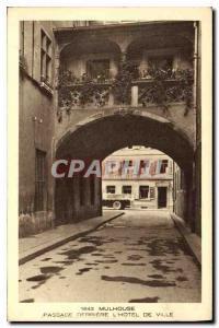 Old Postcard Mulhouse Passage behind the Hotel de Ville
