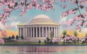 Washington D C The Jefferson Memorial With Cherry Blossoms