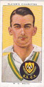 Player Cigarette Card Cricketers 1938 No 47 M G Waite South Australia